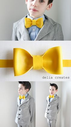 I sort of have a bow tie obsession. I have already posted about them here, here, and here. (The last link is an oldie. It's one of the first posts I created when I started this blog). Well, how about another? Today, I'm making them with leather and vinyl. It looks so cool and is a faster sew than fabric ones! Materials: *Leather scraps 3/4