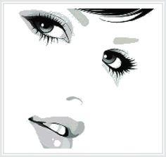 PUNTADITAS (pág. 98) | Aprender manualidades es facilisimo.com Rostro de grandes ojos y labios