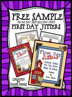 Free sample from my best selling unit first day jitters for First day jitters coloring page