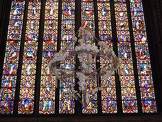 Amazing stained glass windows in Lincoln cathedral