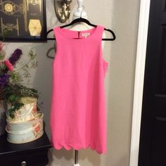 Montreal Pink Scallop Dress Excellent Condition Dresses Mini