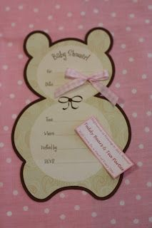 Teddy Bears Invitation but in blue not pink
