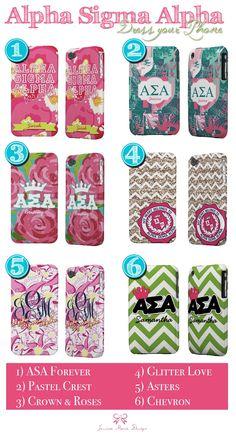 Jessica Marie Design Blog: Alpha Sigma Alpha iPhone Cases