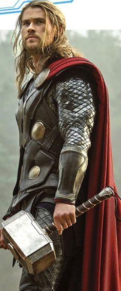 Noone has worked armour quite so well as Chris Hemsworth