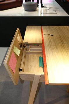 Landa Desk - L 150 cm 150 x 80 cm - Natural oak by Alki