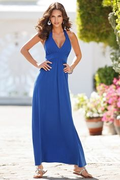 Boston Proper Classic halter maxi #bostonproper