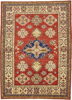 Red Kazak Area Rug