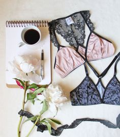Modern Racer Back Lace Bralette Sewing Pattern by OhhhLuluSews