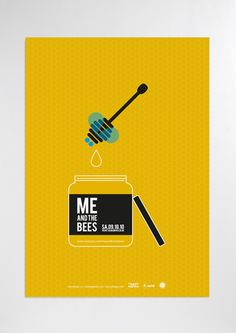 Me and the Bees #poster #graphicdesign #yellow