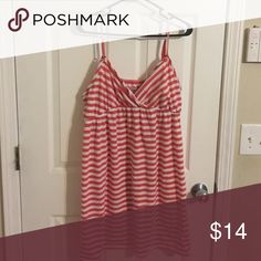 Coral and white stripes maternity dress Maternity dress. Missing belt Motherhood Maternity Other