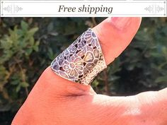 SALE Flower silver Band, filigree flower ring, #jewelry #ring @EtsyMktgTool http://etsy.me/2a7H4MF