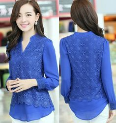 Spring 2014 chiffon blouse women lace shirt tops for women clothing clearance plus size lace blouses wome brand blusas femininas