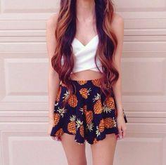 Pine apple printed skirt