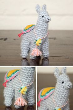 Free Crochet Llama Pattern | amigurumi llama pattern from picotpals.com - This tiny llama would make a great stocking stuffer! It's also small enough to use as a Christmas ornament.