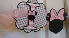 Minnie Mouse Birthday Hi-Chair Banner pink by ASweetCelebration