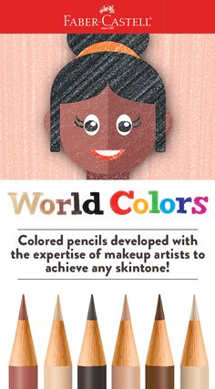 Join Faber-Castell in celebrating equality and cultural diversity with our World Colors colored pencil sets! World Colors is available in sets of 15 and each with six blendable skin tones alongside traditional colors. Skin Tone Colored Pencils, Learning Express, International Dot Day, Skin Shades, Person Of Color, Colors For Skin Tone, Sketch Inspiration, World Of Color, Art World