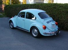 Second car: 1974 VW Beetle, in this color but better: it had a three-week-old coat of PPG paint when I bought it. I owned it for nearly 5 years and restored, modified, and/or fixed nearly everything on it at some point (exhaust tips/1835cc cylinders/hot distributor, tinted windows, blacked-out chrome, custom steering wheel/ext. mirrors/gauges/shifter, refurb interior, 6-speaker stereo, etc.). No A/C in El Paso made me appreciate heat. The perfect college car.