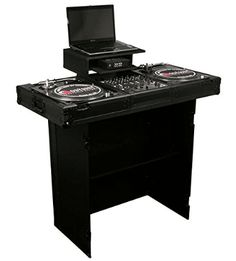 Odyssey Folding DJ Stand & FacadeMade to the exact same standards as our Flight Zone series but with a twist. The components used to produce this series, including the aluminum trim and hardware, is now anodized and/or powder coated . Design Studio Office, Recording Studio Design, Dj Stand, Dj Table, Home Studio Music, Dj Booth, Best Dj, Dj Equipment, Laptop Stand