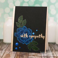 Листівка зі співчуттям ... Sympathy card using Altenew stamps - Dandelion Clouds