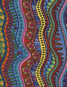 Your place to buy and sell all things handmade Ramayana Story, Cotton Quilts, Shades Of Green, Fabric Patterns, Abstract Art, Doodles, Artsy, Coloring, Prints