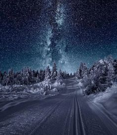 Night in Skeikampen, Norway