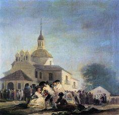 Pilgrimage to the Church of San Isidro - Goya Francisco