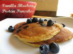 """Vanilla Blueberry Protein Pancakes"" Ingredients: 2 scoops Arbonne Essentials Vanilla Protein,1 scoop Arbonne Fiber Boost, 1 large egg,1 tsp baking powder,1 packet stevia sweetener,1 cup blueberries,water. Shop online: http://luzmariaheredia.arbonne.com"