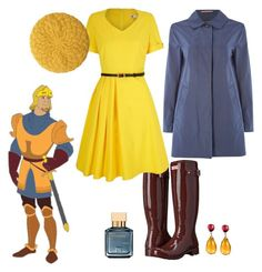 """""""Captain Phoebus"""" by kimmmeo ❤ liked on Polyvore featuring Hunter, Yumi, Gloverall, Lowie, Maison Francis Kurkdjian and Goshwara"""