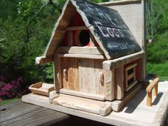 Red Barn Birdhouse Pallet Wood Red Barn by TheMomandPopWoodshop, $85.00