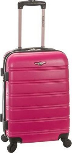 Luggage Carry On Hard Shell Suitcase Wheels 20 in Telescopic Handle Rolling Tuff #Melbourne