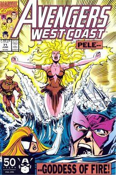 Someone loved that X-Men Phoenix cover by Cockrum... Avengers West Coast # 71 by Tom Morgan & Dan Bulanadi