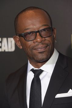 Actor Lennie James attends the season six premiere of 'The Walking Dead' at Madison Square Garden on October 9 2015 in New York City