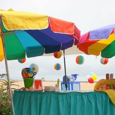 Beach Balls as Party Decorations!