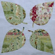 pieced leaves for applique