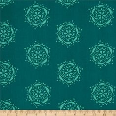 Art Gallery Lavish Bejeweled Seal Teal from @fabricdotcom Get inspired by these beautiful colors and floral inspired patterns that will be sure to delight the eye. Designed by Katarina Roccella for Art Gallery Fabrics, this cotton print is perfect for quilting, apparel and home decor accents. Art Gallery Fabric features 200 thread count of finely woven cotton. Colors include teal and aqua.
