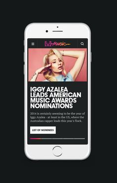v music responsive mobile site