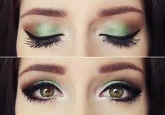 Green eye shadow! hair-nails-makeup