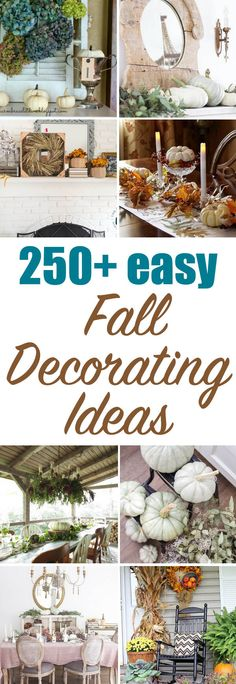 A beautiful collection of 250+ Fall Decor Ideas