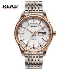 147.98$  Watch now - http://ali542.worldwells.pw/go.php?t=32694030634 - READ Men's Watch Classic double calendar Mens watch fashion men's Hot Luxury Brand  Business Clock Steel Watch R8082