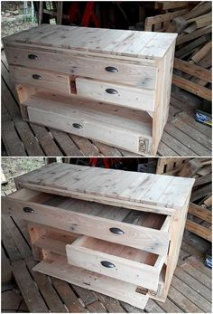 This unique wood pallet idea will make you offer with two functional services into one design! Well, this is all about the wood pallet media table that is brilliantly being associated with the service function of the drawers for storage as well. It do look so creative and much simple in terms of designing blends.