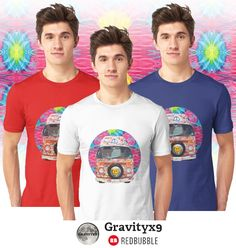 Groovy Hippie Van Unisex Tee Shirts by #Gravityx9 at Redbubble - Available in a variety of colors and sizes.