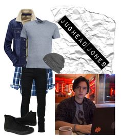 """Jughead Jones #1"" by musicaltheater-moriah on Polyvore featuring Banana Republic, Marcelo Burlon, A.P.C., Converse, Outdoor Research, men's fashion and menswear"