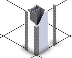 Snake Guard  These aluminum diamond plate corner details will protect interior architecture of data centers against inadvertent strikes from rolling equipment and ladders.