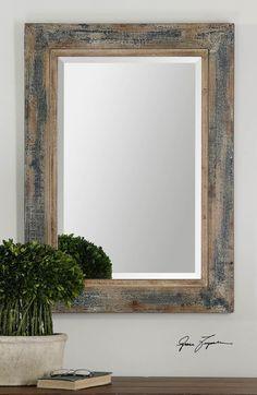 Main Image - Uttermost 'Bozeman' Distressed Wooden Mirror