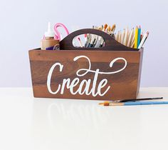 Make This Create Art Supply Caddy With Cricut Explore