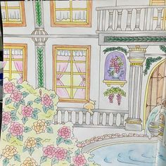 Instagram media iwasakiii - クロスタロッス城の春左側 ぶどうのテカリ?(笑)が上手くいって満足♬ #大人の塗り絵 #ロマンティックカントリー