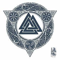 Picture result for valknut tattoo - Tattoo - Tatouage Viking Tattoo Symbol, Rune Tattoo, Norse Tattoo, Viking Tattoos, Tattoo Symbols, Nordic Symbols, Viking Symbols, Viking Runes, Arte Viking