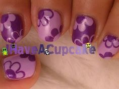 Cute and Simple Flowers Nail Art Video