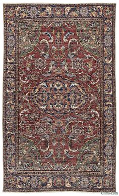 Turkish+vintage+rug+hand-woven+in+1960's+and+in+very+good+condition.+Piles+of+this+rug+were+trimmed+in+order+to+give+a+contemporary+look.