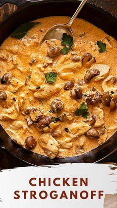 Creamy Chicken Breast Recipes, Best Chicken Recipes, Wine Recipes, Cooking Recipes, Healthy Recipes, Cheese And Wine Tasting, Wine Cheese, Chicken Stroganoff, Pasta